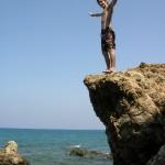 Ich am Strand von Bedemliköy