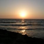 Sonnenuntergang beim wild campen in Zypern